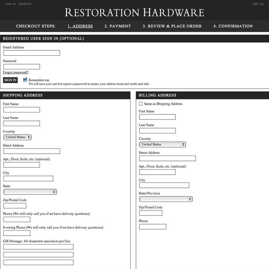 Restoration Hardware Address