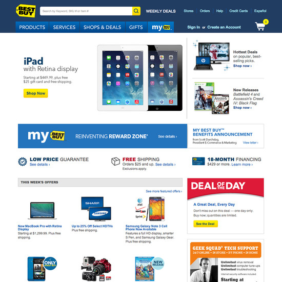 Best buy 39 s homepage categories usability score 116 for Best websites to buy online