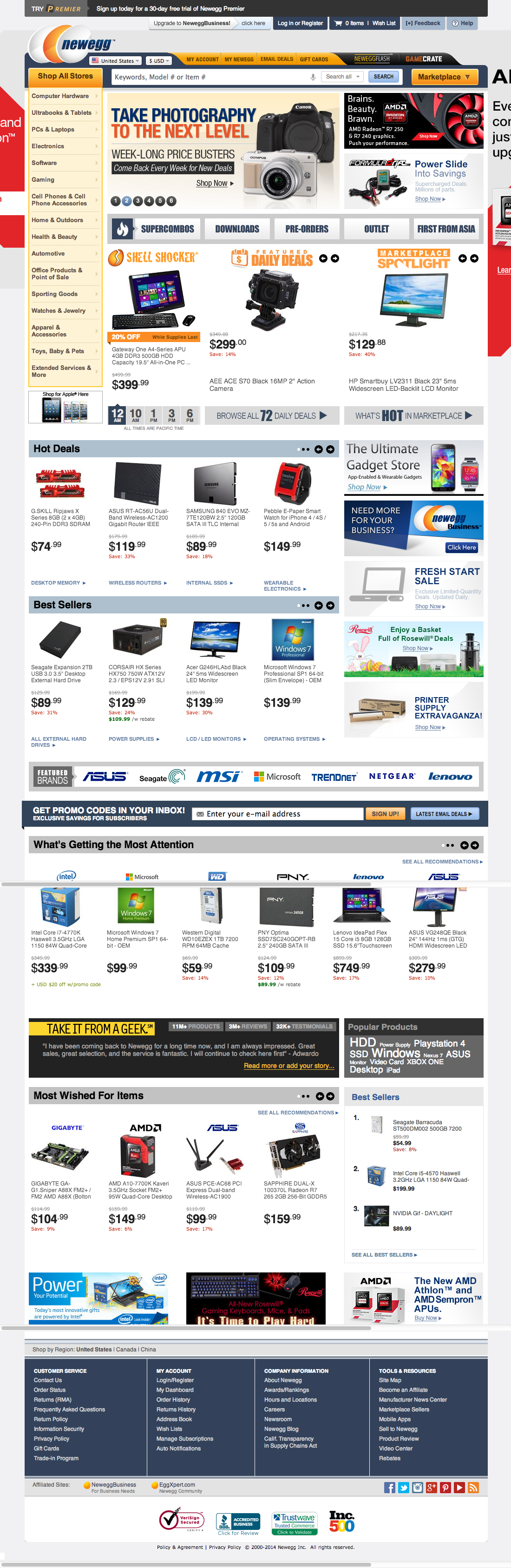 Newegg's Search Field