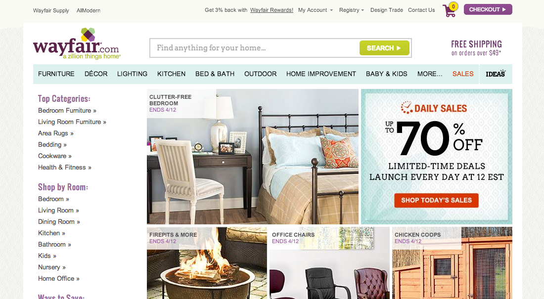 Wayfair's Search Field