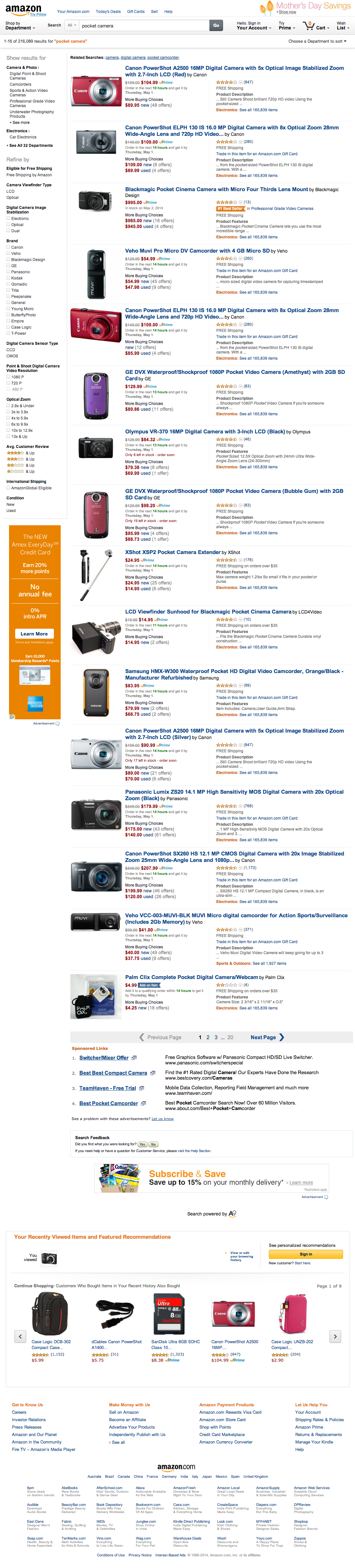 Amazon's Search Results Page