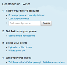 Twitter ask for additional information after you sign up so they can keep the sign-up form clean and simple.