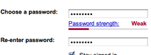 Instead of disallowing weak passwords, inform your users and then let them make the decision.