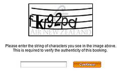 CAPTCHA from Air New Zealand