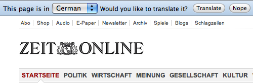 Do Google Chrome want me to translate this page? Or is it offering to translate the page for me?
