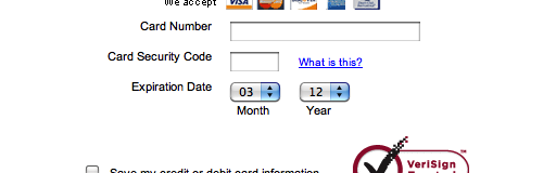 Adding month/year labels below the expiration date fields further clarifies the values represented.