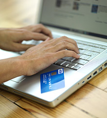 Entering credit card details from a physical card is tedious and prone to human mistakes.