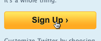 Do you truly need a sign up button or could you just display the sign up fields right on your home page instead?