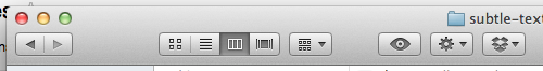 Finder and other applications have a subtle speckle texture in the control bar.